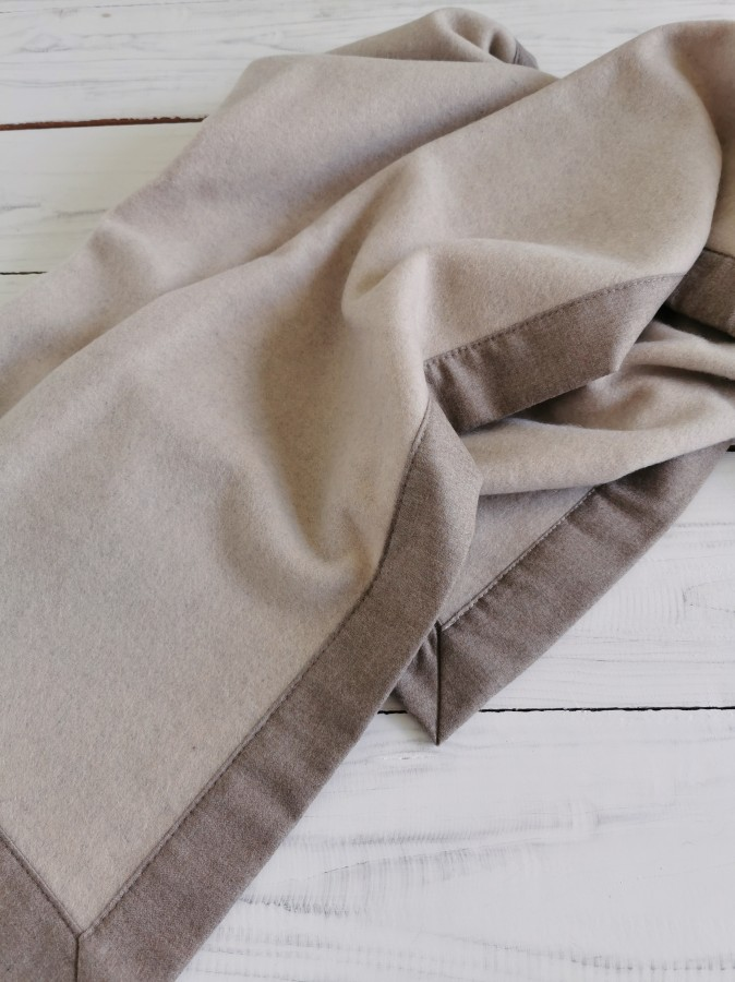Chasmere wool baby blanket
