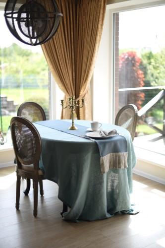 Lininė staltiesė TURQUOISE 140x250 cm