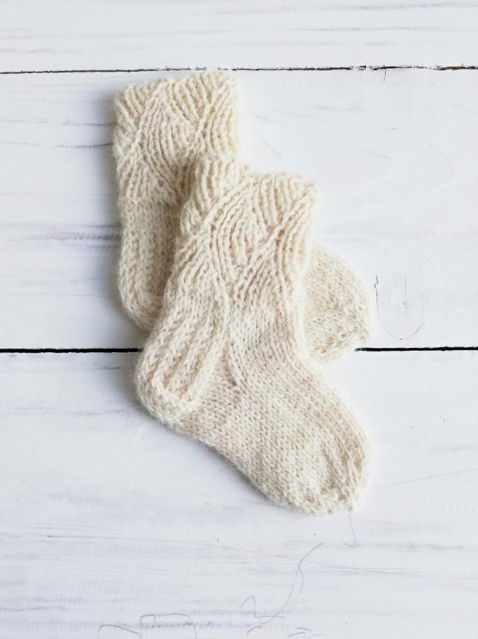 """Vilnonės kojinytės 8 cm """"Karališkos"""""""